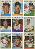 Autographs:Sports Cards, 1964 Topps Baseball Signed Cards Group Lot of 129. Group of 129cards from the 1964 Topps issue, all signed. Highlights inc...