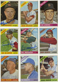 Autographs:Sports Cards, 1966 Topps Baseball Signed Cards Group Lot of 102. Group of 102cards from the 1966 Topps issue, all signed. Highlights in...