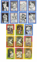 Autographs:Sports Cards, Shakey's Pizza/Baseball Immortals Signed Hall of Famer Cards Group Lot of 17. Nice assortment of HOF-signed baseball cards ...