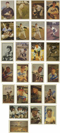 Autographs:Sports Cards, Baseball Stars Signed Bowman Reprint Cards Group Lot of 24. Niceassortment of star signatures, each appearing on an exampl...