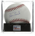 Autographs:Baseballs, Barry Bonds Single Signed Baseball, PSA Gem Mint 10. Perfect example of the Bonds single, unimprovable both in the signatur...
