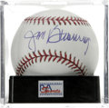 Autographs:Baseballs, Jim Bunning Single Signed Baseball, PSA Mint 9. Hall of Famepitcher turned politician Jim Bunning has left the OML basebal...