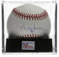 Autographs:Baseballs, Reggie Jackson Single Signed Baseball, PSA NM-MT+ 8.5. Big-gameclutch hitter Reggie Jackson has left his his HOF signature...