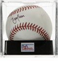 Autographs:Baseballs, Randy Johnson Single Signed Baseball, PSA Mint+ 9.5. The Big Unithas left this official 2001 World Series ball adorned wit...