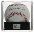 Autographs:Baseballs, Harmon Killebrew Single Signed Baseball, PSA Gem Mint 10. Killersingle from the HOFer rates perfect in both signature qual...