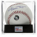 Autographs:Baseballs, Willie Mays Single Signed Baseball, PSA Gem Mint 10. Perfect GemMint example of the Willie Mays single. Ball has been enca...