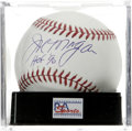 "Autographs:Baseballs, Joe Morgan ""HOF 90"" Single Signed Baseball, PSA Mint 9. Popular BigRed Machine staple Joe Morgan has signed this OML baseb..."