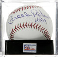 "Autographs:Baseballs, Brooks Robinson ""HOF 83"" Single Signed Baseball, PSA Gem Mint 10.The Human Vacuum Cleaner Brooks Robinson provides this OM..."