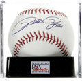 Autographs:Baseballs, Pete Rose Single Signed Baseball, PSA Mint+ 9.5. Baseball's hitking has signed a near-perfect signature on the sweet spot ...