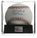 """Autographs:Baseballs, Dave Winfield """"HOF 2001"""" Single Signed Baseball, PSA Gem Mint 10.This perfect OML ball is adorned with an equally impressi..."""