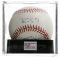 Autographs:Baseballs, Circa 1990s San Francisco Giants Multi-Signed Baseball PSA Mint 9.This baseball has been signed by four members of the 199...