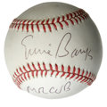 "Autographs:Baseballs, Ernie Banks ""Mr Cub"" Single Signed Baseball. Ernie Banks, regardedas the most beloved player that the Chicago Cubs organiz..."