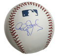 Autographs:Baseballs, Roger Clemens Single Signed Baseball. Here we see a perfect exampleof a side panel signature by the Rocket Roger Clemens. ...