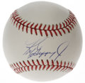 Autographs:Baseballs, Ken Griffey, Jr. Single Signed Baseball. Junior recently enteredthe select 500 Home Run Club this year. He has signed an O...