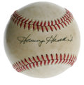 Autographs:Baseballs, Harvey Haddix Single Signed Baseball. Three-time All-Star andthree-time Gold Glove winner Harvey Haddix has provided the s...