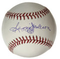 Autographs:Baseballs, Reggie Jackson Single Signed Baseball. Mr. October himself hassupplied a magnificent sweet spot signature to the provided ...