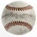 Autographs:Baseballs, Mickey Mantle Single Signed Baseball. Although a significant amountof soiling can be observed on this OAL (Brown) baseball...