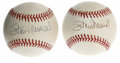 Autographs:Baseballs, Stan Musial Single Signed Baseballs Lot of 2. Two excellent sweetspot singles come to us via Stan the Man Musial, the HOF ...(Total: 2 Items)