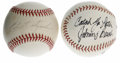 Autographs:Baseballs, Johnny Bench and Carl Yastrzemski Single Signed Baseballs Lot of 2.Here we present singles from two HOF stars. Johnny Ben... (Total: 2Items)