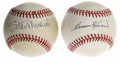 Autographs:Baseballs, Stan Musial and Harmon Killebrew Single Signed Baseballs Lot of 2.What better way to honor two of your favorite HOF slugge... (Total:2 Items)