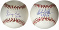 Autographs:Baseballs, George Kell and Bob Feller Single Signed Baseballs Lot of 2. Eachof the two provided OAL (Budig) baseballs we see here has...(Total: 2 Items)