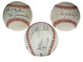 Autographs:Baseballs, Assorted Signed Baseballs Lot of 3. Unique trio of baseballsoffered here includes a single from future HOFer Roger Clemens...(Total: 3 Items)
