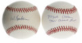 Autographs:Baseballs, Red Barber and Mel Allen Single Signed Baseballs Lot of 2.Remarkable pair of singles come to us via this pair of pioneer s...(Total: 2 Items)