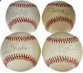 Autographs:Baseballs, Baseball Stars Signed Baseballs Lot of 4. Four single signed orbsare offered here, each autographed by one of the Majors' ...(Total: 4 Items)