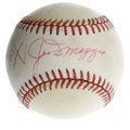 Autographs:Baseballs, Sandy Koufax, Joe DiMaggio, and Willie Mays Multi-Signed Baseball.The leather of the ONL (Feeney) baseball we see here has...