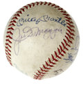 Autographs:Baseballs, Baseball Hall of Famers Multi-Signed Baseball. Tough OAL (Cronin)baseball has been graced with the signatures of eleven of...