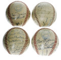 Autographs:Baseballs, 1928-48 Boston Red Sox Team Signed Baseballs Lot of 4. This finequartet carries the signatures of Boston Red Sox players a...(Total: 5 items)