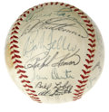 Autographs:Baseballs, 1955 Cleveland Indians Team Signed Baseball. Despite being stackedwith a huge amount of talent, the 1955 Cleveland Indians...