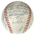 Autographs:Baseballs, 1955 St. Louis Cardinals Team Signed Baseball. Twenty signaturesfrom the 1955 Red Birds appear on this quality ONL (Giles)...