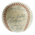 Autographs:Baseballs, 1959 Detroit Tigers Team Signed Baseball. Vintage OAL (Harridge)ball presented here has been signed by 33 members of the 1...