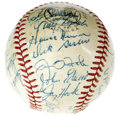 Autographs:Baseballs, 1961 Cincinnati Reds Team Signed Baseball. A light coating ofshellac has kept the thirty signatures on this ONL (Giles) ba...