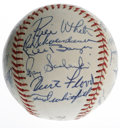 Autographs:Baseballs, 1962 St. Louis Cardinals Team Signed Baseball. Here we present an excellent team-signed ONL (Giles) orb, adorned with the s...