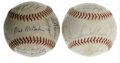 Autographs:Baseballs, 1962 and 1976 Cleveland Indians Team Signed Baseballs Lot of 2.Fine pair of team signed baseballs comes to us via two Clev...(Total: 2 Items)