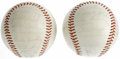 Autographs:Baseballs, 1964 and 1966 San Francisco Giants Team Signed Baseballs Lot of 2.Each of the two ONL (Giles) baseballs offered here has b... (Total:2 Items)