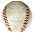 Autographs:Baseballs, 1965 Minnesota Twins Team Signed Baseball. The American LeagueChamps join forces on an OAL (Cronin) ball, with noteworthy ...