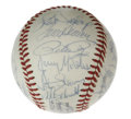 Autographs:Baseballs, 1977 NL All-Star Team Signed Baseball. Yankee Stadium was the siteof the 48th All-Star game, played in 1977. The NL won 7...