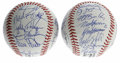 Autographs:Baseballs, 1990 American and National League All-Star Team Signed BaseballsLot of 2. Team signed baseballs from the AL and NL All-Sta...(Total: 2 Items)