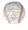 Autographs:Baseballs, 1990 Oakland Athletics Team Signed Baseball. The American LeagueChamps appear in 9/10 and better ink on an OAL (Brown) bas...