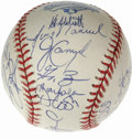 Autographs:Baseballs, 1997 Florida Marlins Team Signed Baseball. In only the fifth yearof the club's existence, the Florida Marlins became the f...