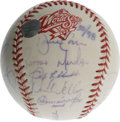 Autographs:Baseballs, 1998 New York Yankees Team Signed Baseball. Twenty-one members ofthe 1998 World Series-winning New York Yankees appear her...