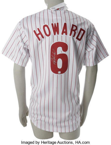low priced d68b2 fc09d Ryan Howard Signed Jersey. Majestic home white Philadelphia ...