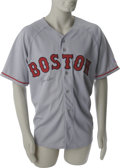 Autographs:Jerseys, Jim Rice Signed Jersey. Adding to the legend of Red Sox leftfielders who played their whole career in Boston, Jim Rice spe...