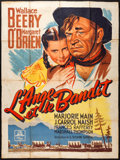"Movie Posters:Western, Bad Bascomb (MGM, 1947). French Grande (46.5"" X 62""). Western.. ..."