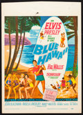 "Movie Posters:Elvis Presley, Blue Hawaii (Paramount, 1961). Trimmed Window Card (14"" X 19.5"").Elvis Presley.. ..."