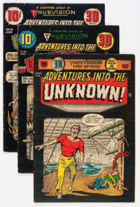Adventures Into The Unknown Group (ACG, 1954) Condition: Average VG.... (Total: 4 Comic Books)