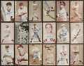 Baseball Cards:Autographs, Baseball Greats Vintage Signed Exhibit Cards Lot of 60+....